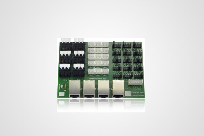 New sensor distributor V2  with plugable sensors makes the installation even easier!